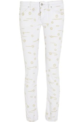 Isabel Marant Oswin Embroidered Low Rise Skinny Jeans