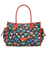 Dooney And Bourke Hearts Delaney Large Tote A Macy's Exclusive Style Black