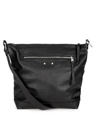 Balenciaga Arena Leather Messenger Bag Black