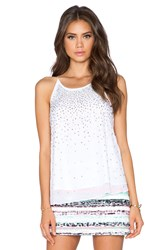 Milly Fly Away Rhinestone Tank White