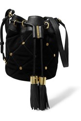 See By Chloe Vicki Suede And Leather Bucket Bag Black