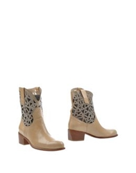 Pinko Grey Ankle Boots Sand