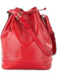 Louis Vuitton Vintage Noe Drawstring Shoulder Bag Red