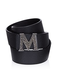 Mcm Claus Jeweled Belt Black