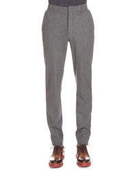 Berluti Flannel Jogger Pants Charcoal