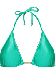 Amir Slama Triangle Bikini Top Green