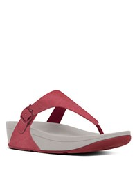 Fitflop The Skinny Canvas Toe Thong Sandals Classic Red