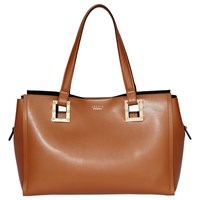 Modalu Flora Leather Tote Bag Toffee Mix