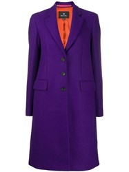 Paul Smith Ps Single Breasted Coat Purple