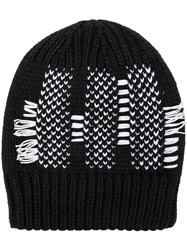 Y 3 Knitted Beanie Black
