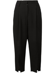 Maiyet Side Slit Cropped Trousers Black