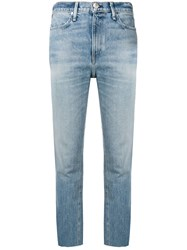 Rag And Bone Cropped Slim Fit Jeans Blue