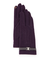 Portolano Buckle Trim Tech Gloves D Purple D