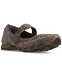 Skechers Women's Bikers Involved Mary Jane Casual Sneakers From Finish Line Brown