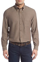 Men's Brooks Brothers 'Sport' Regular Fit Long Sleeve Herringbone Flannel Sport Shirt