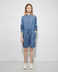 3.1 Phillip Lim Chambray Romper Medium Blue