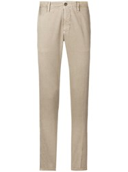 Incotex Slim Fitted Jeans Nude And Neutrals