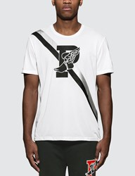 Polo Ralph Lauren P Wing Graphic Print T Shirt In White
