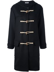 Tomas Maier Hooded Duffle Coat Blue