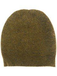 Roberto Collina Ribbed Knitted Beanie Green