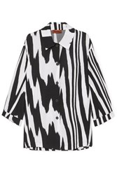 Missoni Zebra Print Crepe De Chine Shirt Black