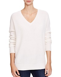 C By Bloomingdale's Thermal Cashmere Sweater Winter White