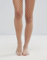Gipsy Extra Large Fishnet Tights White