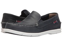 Sebago Liteside Slip On Navy Leather Women's Shoes Blue