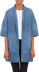 Current Elliott The Quilted Car Coat Blue Size 3 L