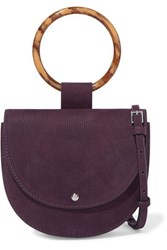 Theory Whitney Small Nubuck Shoulder Bag Purple