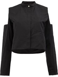 Maison Rabih Kayrouz Cut Out Shoulder Shirt Black