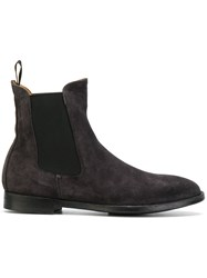 Officine Creative Chelsea Boots Leather Suede Rubber 37.5 Grey