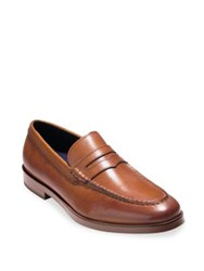 Cole Haan Dress Revolution Hamilton Grand Leather Penny Loafers British Tan