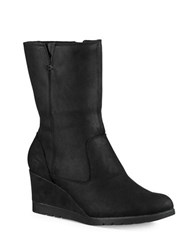 Ugg Joely Suede Wedge Boots Black