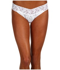 Hanky Panky Bride Original Rise Bridal Thong White Clear Women's Underwear