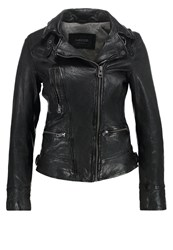 Oakwood Leather Jacket Noir Black