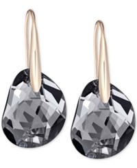 Swarovski Galet Rose Gold Tone And Faceted Crystal Earrings
