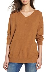 Dreamers By Debut Exposed Seam Sweater Heather Mustard