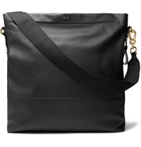 Tom Ford Full Grain Leather Tote Bag Black