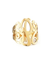 Jennifer Zeuner Jewelry Jennifer Zeuner Three Initial Monogram Ring Gold 8