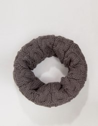 French Connection Cable Snood Grey