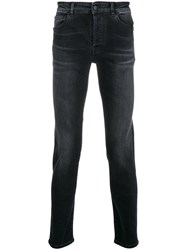 Marcelo Burlon County Of Milan Slim Faded Jeans Black