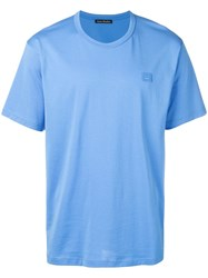 Acne Studios Nash Face T Shirt Blue