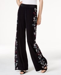 Alfani Floral Print Palazzo Pants Only At Macy's Black Floral