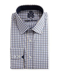 English Laundry Checked Cotton Dress Shirt Tan