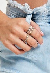 Missguided Metallic Ring Set Multi