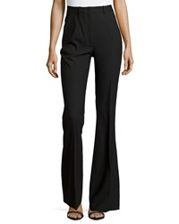 Michael Kors Stretch Wool Flared Trousers Black