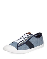 Ben Sherman Earl Men's Low Top Chambray Sneaker Blue