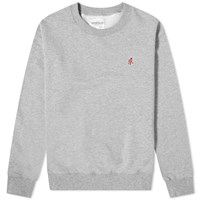 Gramicci Embroidered Running Man Motif Crew Sweat Grey