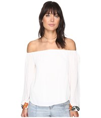 Lovers Friends Over The Sea Top Ivory Women's Clothing White